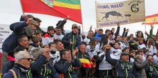 Malú, campeona de España, acompañada de su equipo / Fotografía: FEG