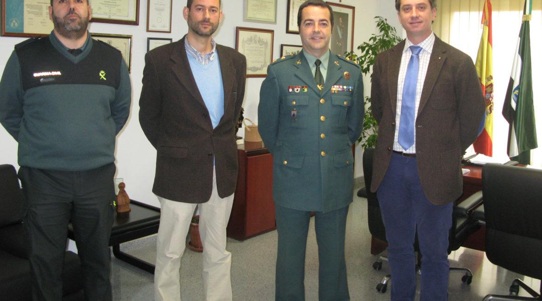 FEDEXCAZA se reúne con la Comandancia de la Guardia Civil en Cáceres