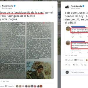 Frank Cuesta cita a Félix Rodríguez de la Fuente para responder al odio animalista