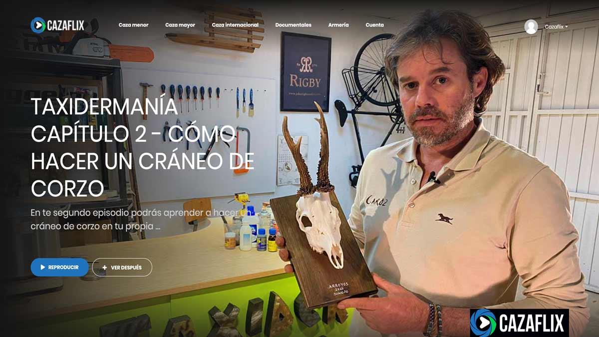 Hoy, gratis en Cazaflix, el segundo capítulo de Taxidermanía: cómo hacer un cráneo de corzo