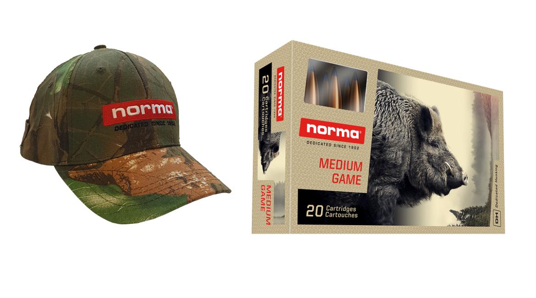 Llévate gratis una exclusiva gorra de camuflaje por la compra de dos cajas Norma Strike