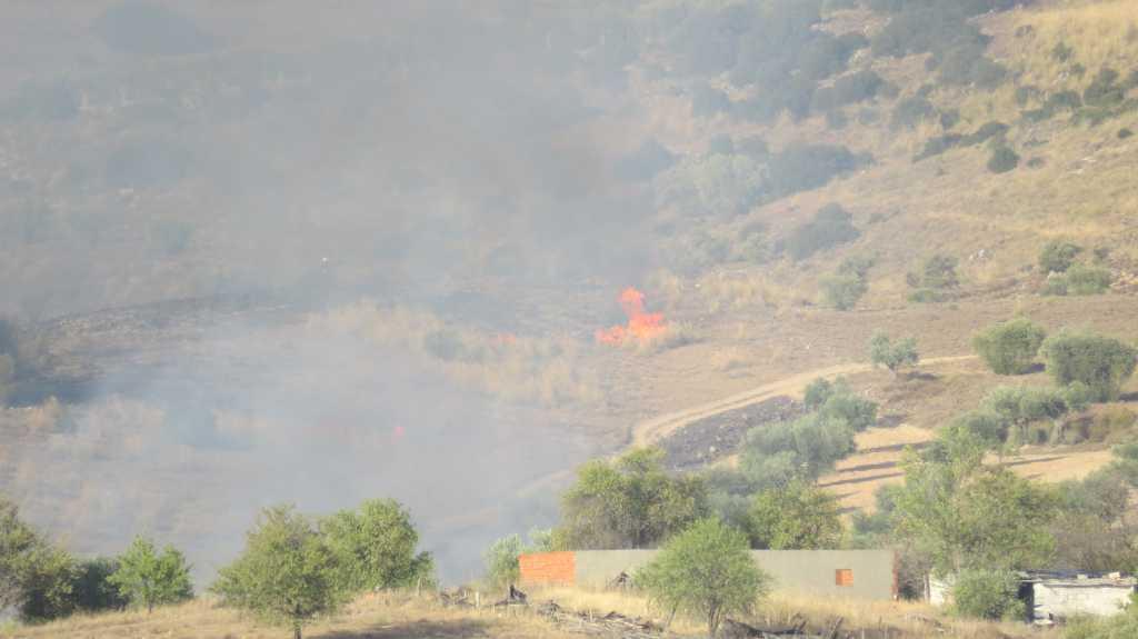 Imágenes del incendio que amenazaba el centro de ACURN