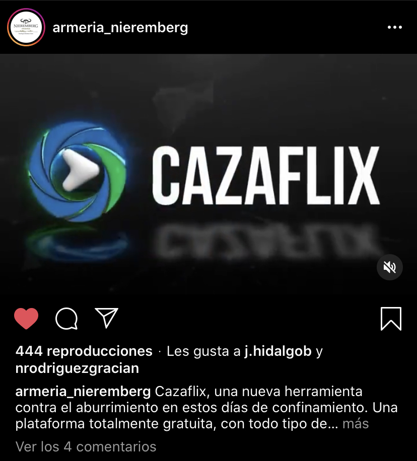 captura de pantalla de instagram