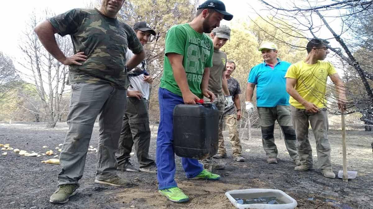 Podemos utiliza los incendios para atacar a la caza en Extremadura