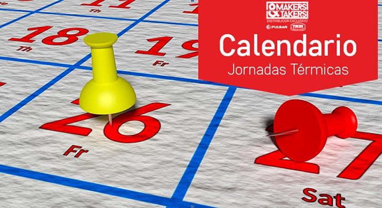 Calendario de jornadas térmicas de Makers&Takers en octubre