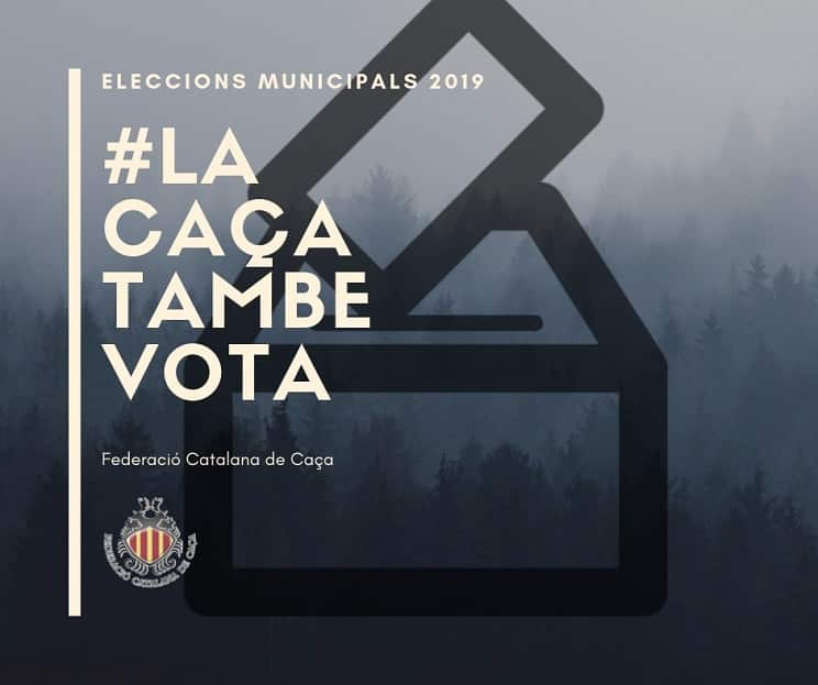 La Federación Catalana de Caza se suma a la campaña 'En las municipales #LaCazaTambiénVota'