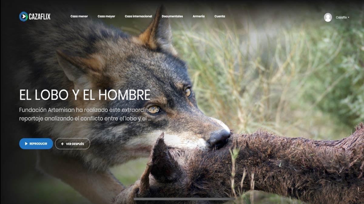 Hoy, gratis en Cazaflix, EL hombre y el lobo, documental de Fundación Artemisan