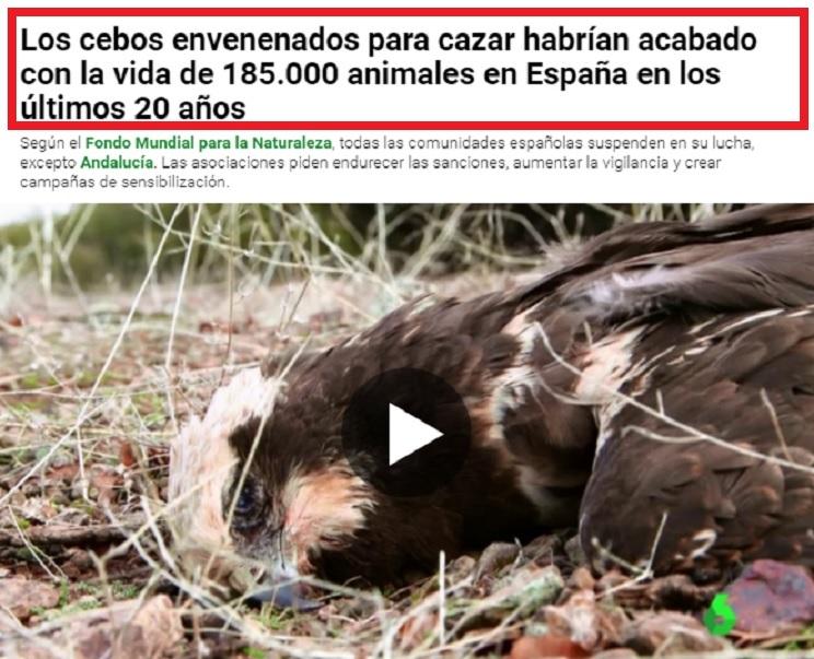 La Sexta acusa a los cazadores de utilizar veneno
