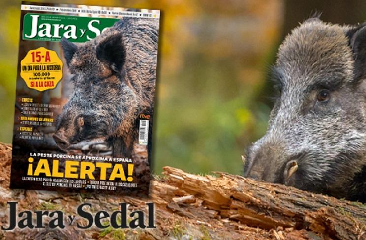 El número de mayo de Jara y Sedal se centra en el riesgo que supone el avance de la peste porcina africana