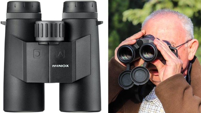 Juan Francisco París durante la prueba de los Minox X Range 10x42. ©Innova Ediciones
