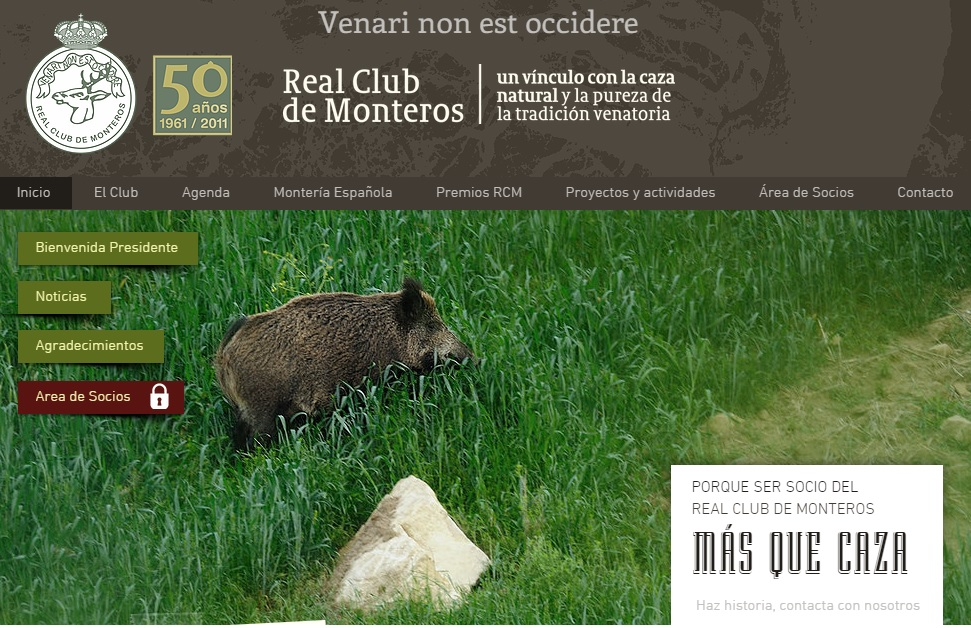 Nueva web del Real Club de Monteros