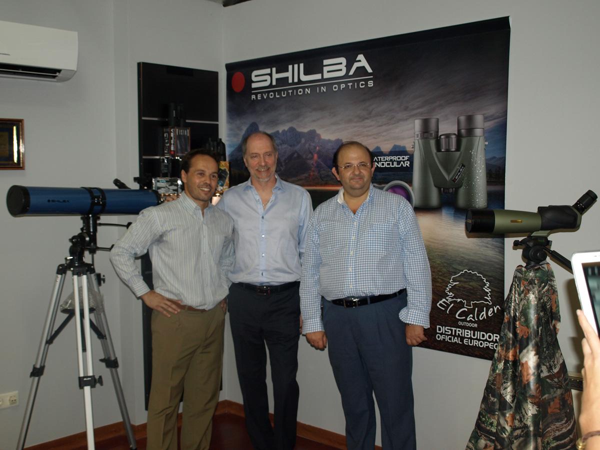 Leonardo Simone (izquierda) junto a Alejandro Baraldo y a Antonio Jesús Español