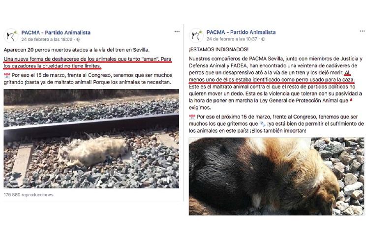 La RFEC exige a medios de comunicación que rectifiquen la noticia que acusa a los cazadores de atar perros a las vías del tren