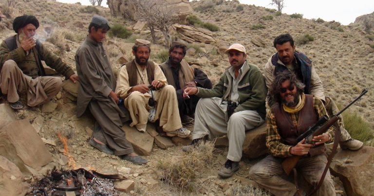 El Markhor de Souleiman en las montañas de Torghar