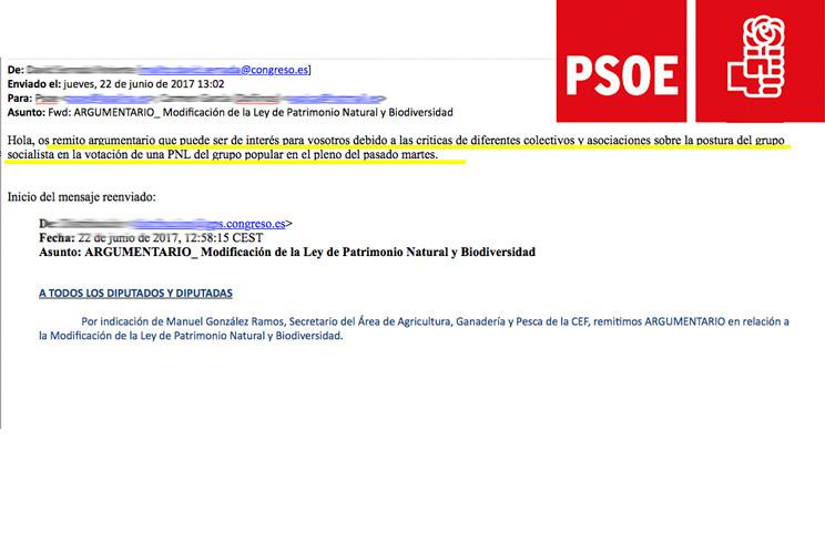 """El PSOE distribuye un argumentario entre sus políticos para justificar su """"traición"""" al mundo rural"""