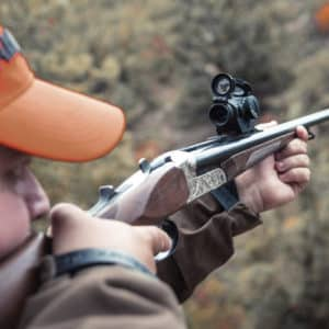 7 visores de punto rojo para cazar jabalíes en montería con los dos ojos abiertos