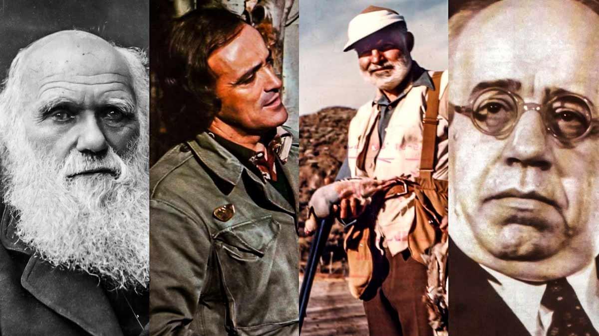 Varios personajes históricos que fueron cazadores.