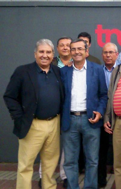 De izqda a derecha: Andrés Gutiérrez, presidente de la RFEC, Rafael González, director general de Trofeo Caza, Alonso Wert, presidente de la UNAC, y Nicanor Ascanio, presidente de la Federación Madrileña de Caza, en una de sus últimas apariciones en público.