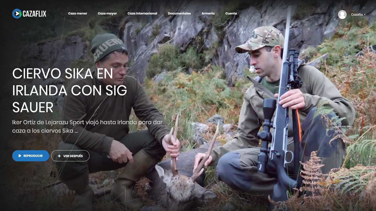 Caza de ciervo sika en Irlanda con Sig Sauer