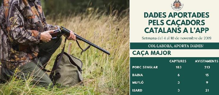 La Federación Catalana lanza una APP para que los cazadores registren sus capturas