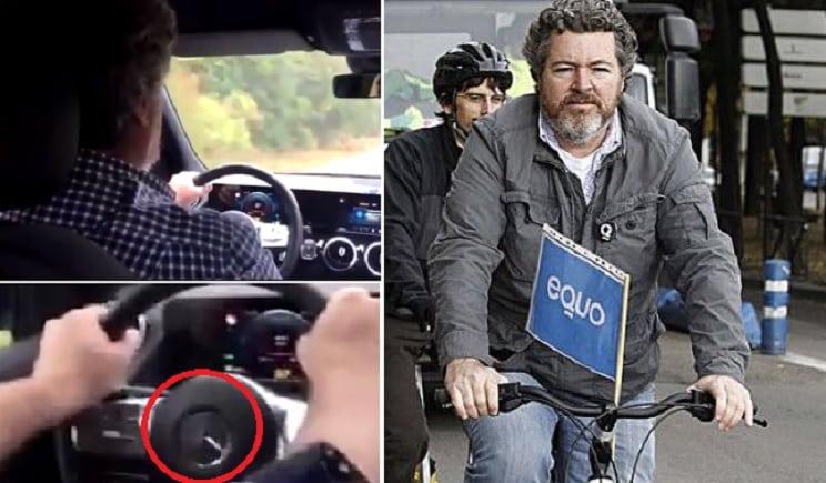 Pillan a Uralde, el ecologista de Unidas Podemos, conduciendo un coche de lujo y elevadas emisiones