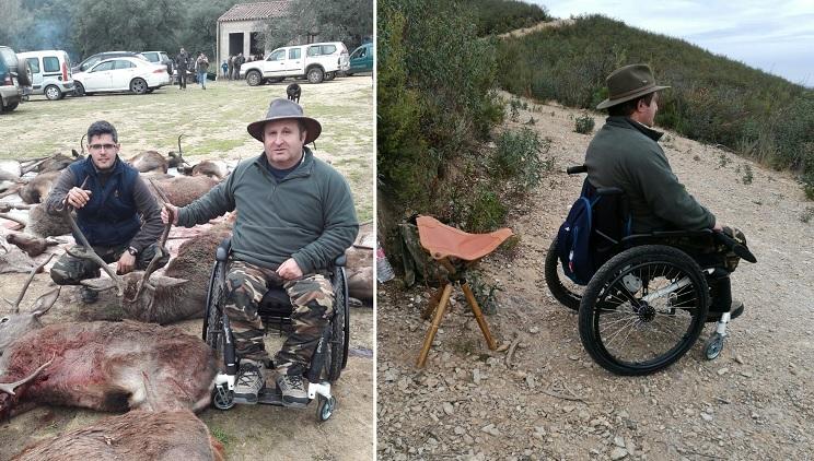cazador silla de ruedas