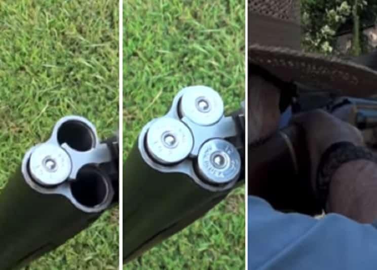 Así funciona una escopeta de caza… ¡de tres cañones!