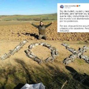 Pablo Echenique se muestra «dispuestísimo a escuchar a los cazadores» tras compartir una polémica foto