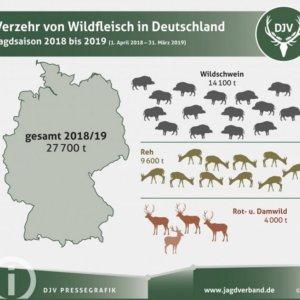 El consumo de carne de caza sube en Alemania: 27.700 toneladas durante la pasada temporada