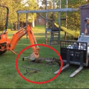 Un trampero fabrica el que podría ser el cepo más grande del mundo
