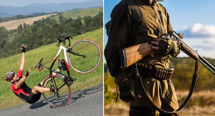 Unos cazadores rescatan a dos ciclistas accidentados en Murcia