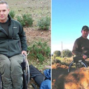 La ejemplar historia de este cazador al que una bala rompió la médula espinal y no ha dejado de cazar
