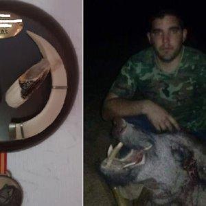 Padre e hijo cazan un espectacular jabalí de un disparo épico en Badajoz