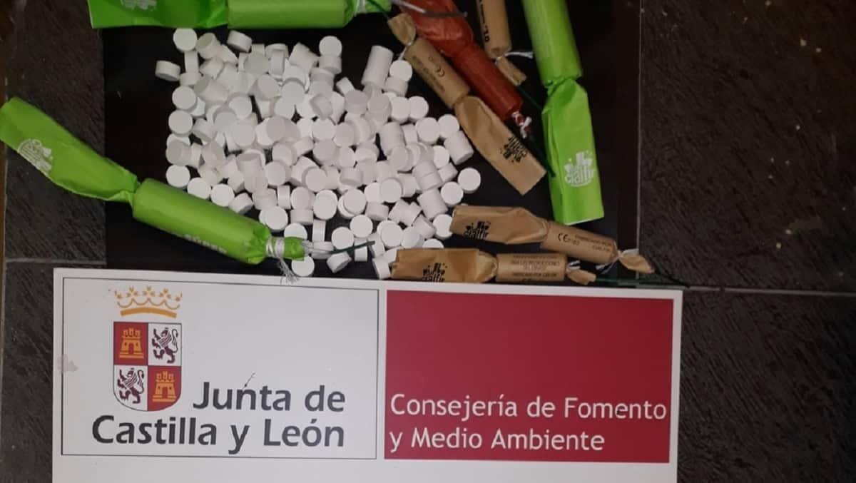 Pillan a dos individuos boicoteando una montería con petardos y pastillas en Burgos