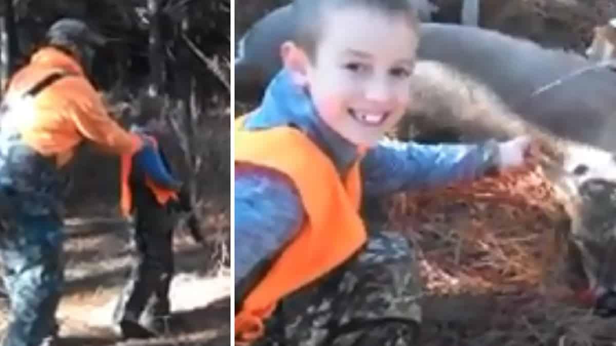 El primer lance de caza de este niño junto a su padre ha hecho llorar a muchos cazadores