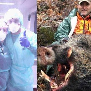 De cazar 'vakamulos' a muro de contención contra el coronavirus: el día a día de este cazador y enfermero de urgencias