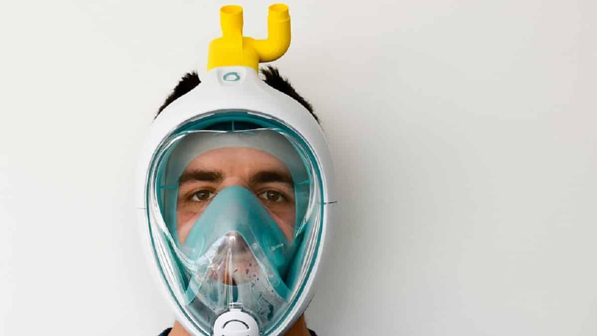 Decathlon dona todas sus máscaras de snorkel para fabricar respiradores