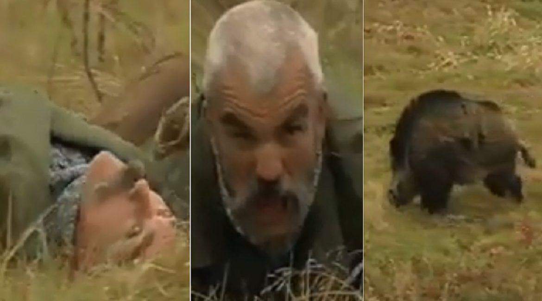 Este hombre es capaz de imitar a un jabalí ¡y hace que uno enorme vaya hacia él!