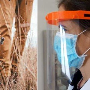 Cazadores malagueños compran materiales para fabricar máscaras contra el COVID-19