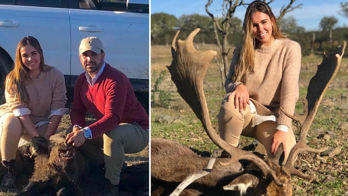 Una pareja de novios caza su primer gamo y varios jabalíes en «un espectáculo de montería» en Huelva