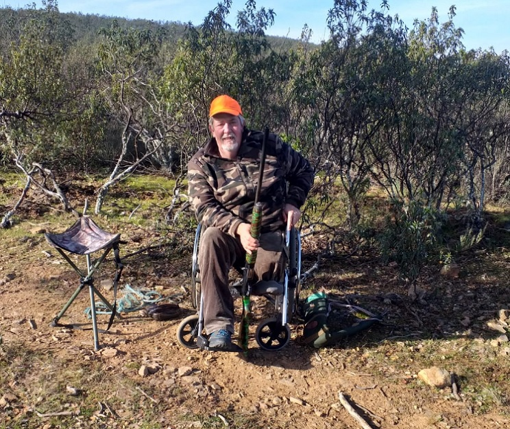Un cazador al que han tenido que amputar una pierna: «Seguiré saliendo al monte como sea»