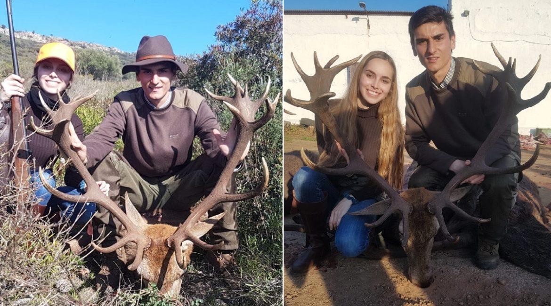 Va de montería con su novia por primera vez y caza este monstruoso ciervo de 20 puntas
