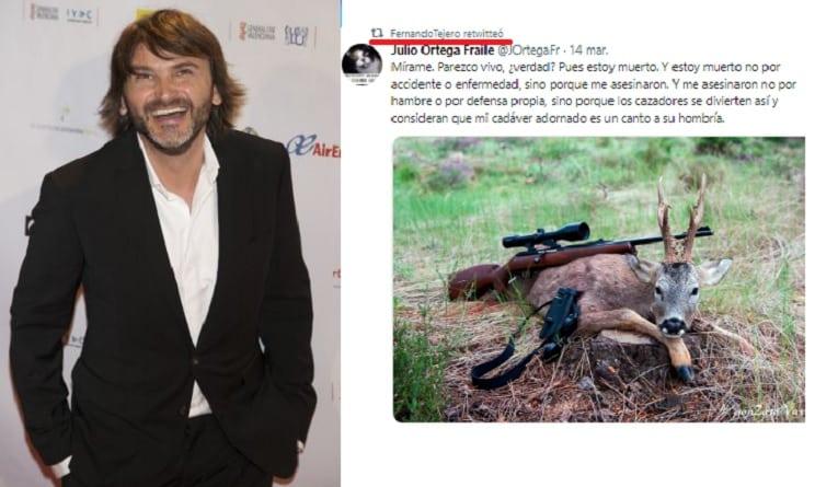 El actor Fernando Tejero vuelve a atacar a los cazadores en Twitter
