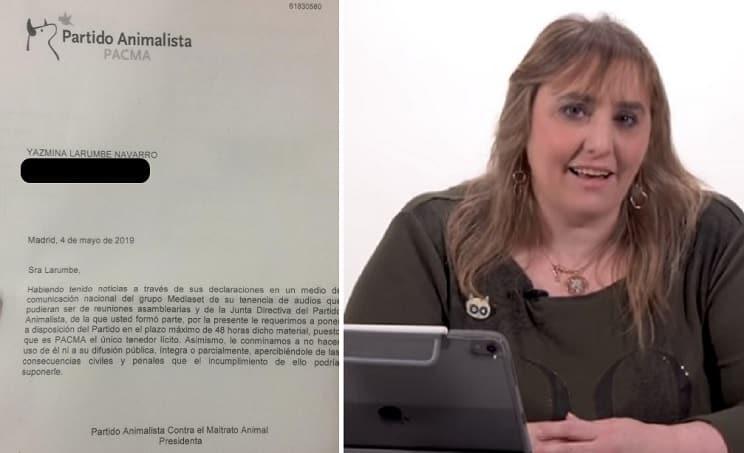 PACMA amenaza a la exdirigente que denunciara irregularidades y «corrupción interna»
