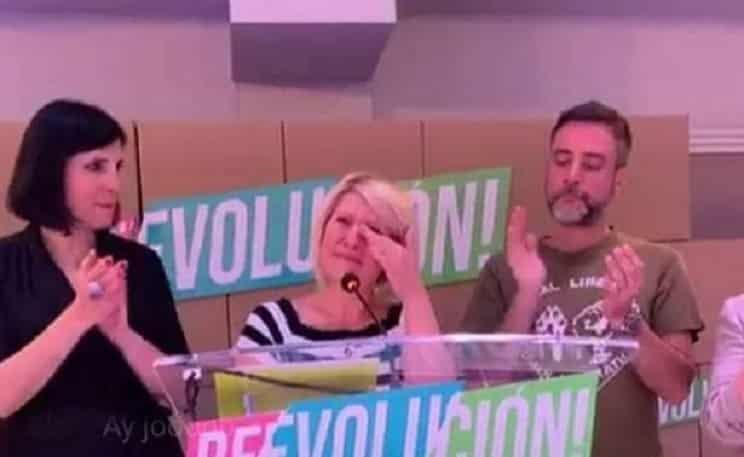 Silvia Barquero rompe a llorar tras el fracaso de PACMA: pierden 32.000 votos