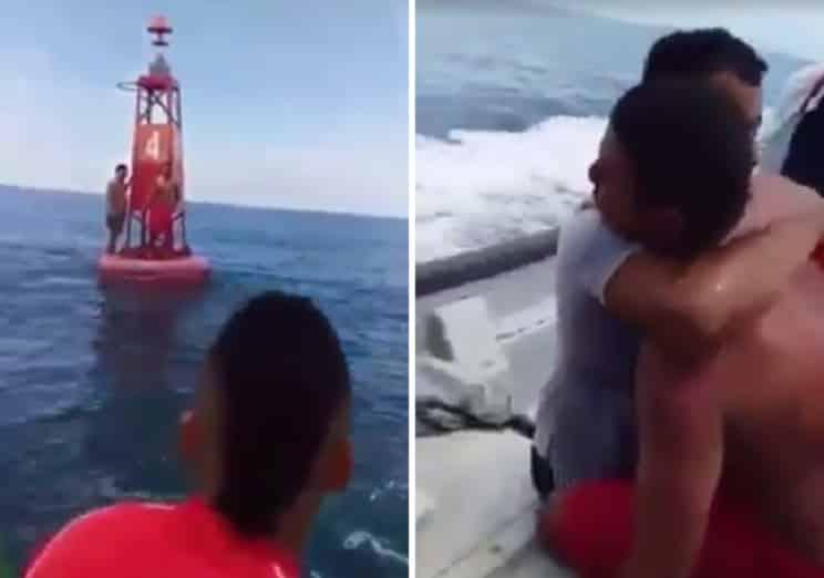 Este es el emotivo momento en el que rescatan a dos pescadores que habían naufragado