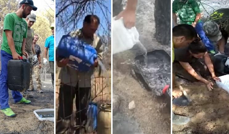 cazadores agua comida