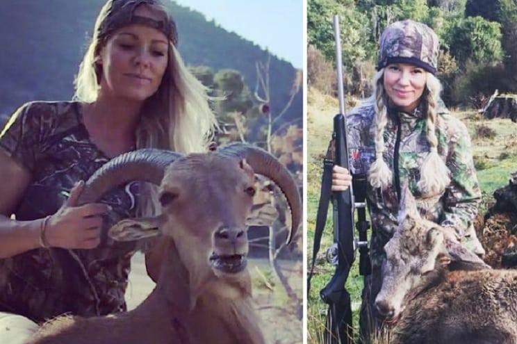 Esta exvegetariana caza ahora la carne que consume su familia