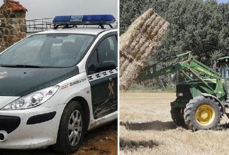 Muere un agricultor aplastado por su tractor y varias pacas de paja