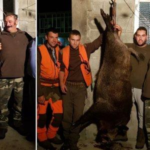 Cazan un jabalí 'vakamulo' de 150 kilos que burló a tres cazadores